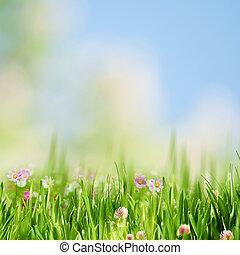 Spring gargen, abstract natural landscape for your design