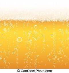 Beer foam background, horizontal seamless beer pattern Light...