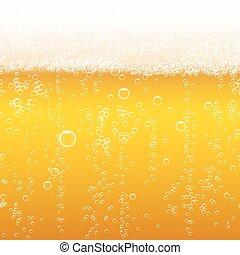Beer foam background, horizontal seamless beer pattern....