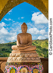 Buddha on the mountain - Buddha in the temple on the...