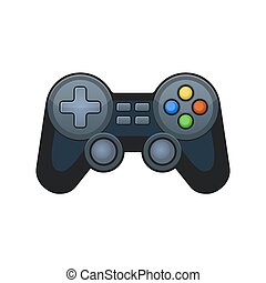 Gamepad Joypad Icon on White Background. Vector