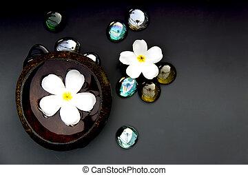 stock bilder von steine spa kokosnuss schale kiesel pebble steine in csp20872052. Black Bedroom Furniture Sets. Home Design Ideas