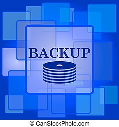 Back-up icon Internet button on abstract background