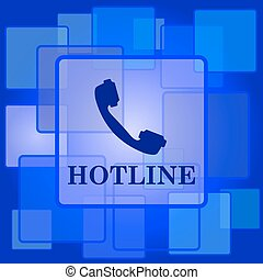Hotline icon Internet button on abstract background