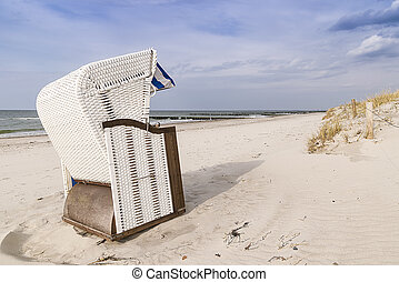 Beach chair Baltic Sea - Picture of a beach chair on the...