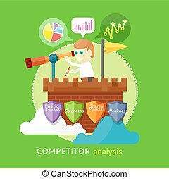 Competitor Analysis Concept - Competitor analysis concept of...