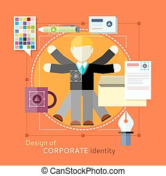 Corporate Identity - Corporate identity concept. Design of...