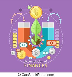 Accumulation of Finances Concept - Accumulation of finances...