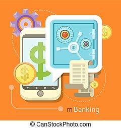 Internet Online Banking Concept - Internet online banking...