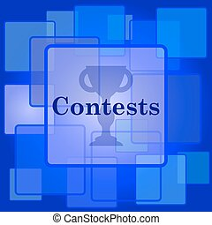 Contests icon Internet button on abstract background