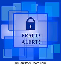 Fraud alert icon Internet button on abstract background