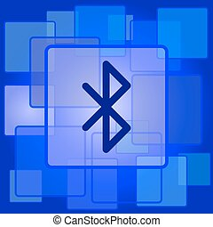 Bluetooth icon Internet button on abstract background