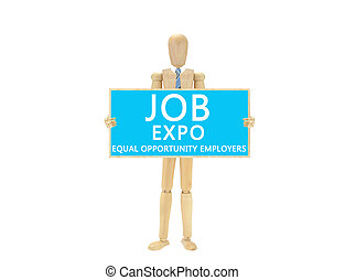 Employment Expo Dry Erase Board Mannequin Equal Opportunity...