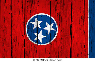 Tennessee State Flag Grunge Background - Tennessee grunge...