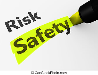 Risk Vs Safety Choice Concept - Safety and security concept...