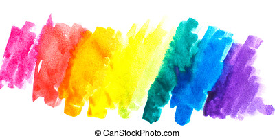 Rainbow abstract watercolors. Colorful background. Design...