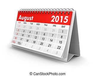 Calendar - August 2015 - Calendar year 2015 image Image with...