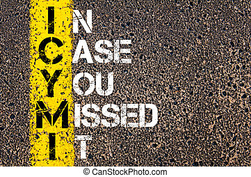siglas, ICYMI, como, en, caso, usted, faltado, él,
