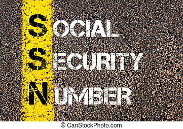 siglas, Seguridad,  ssn, número,  social
