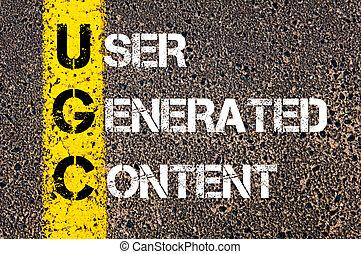 empresa / negocio, siglas, UGC, como, usuario, Generar,...