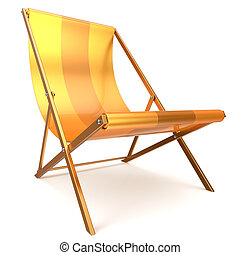 Beach chair chaise longue yellow relaxation tropical...