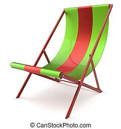 Beach chair chaise longue sunbathing furniture nobody -...
