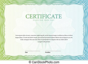 Certificate. Template diplomas, currency. Vector -...
