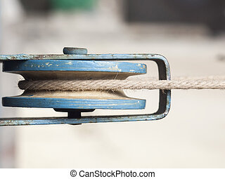 The mechanism for clothesline.