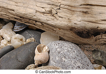 StillLife-26-0024 - Close up of an assortment of pebbles...