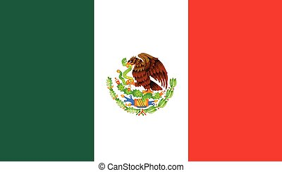 Mexican Flag - Flag of the South American country of Mexico
