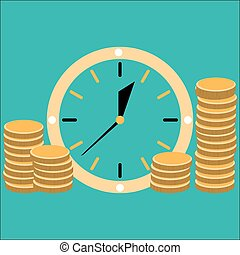 Time is money concept illlustration