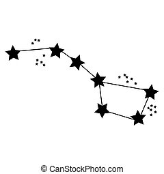 "Simple drawing of constellation ""Ursa Major"" (Big Dipper)"