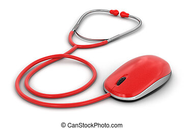 stethoscope and Computer Mouse