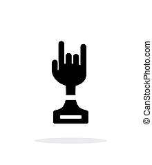 Rock award simple icon on white background Vector...