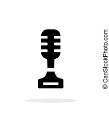 Singer simple icon on white background.