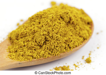 curry powder - Curry powder wooden spoon