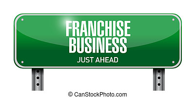franchise business street sign illustration design over...