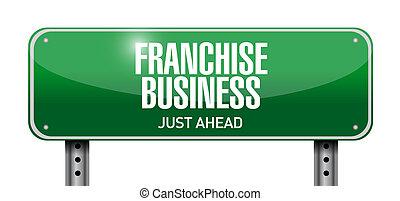 franchise business street sign illustration design over...