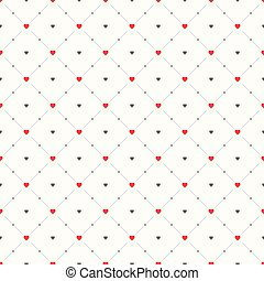 Seamless geometric pattern. Hearts. vector repeating texture