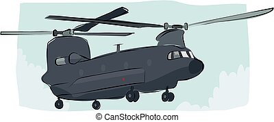 Sketchy chinook helicopter - A sketchy image of a chinook...