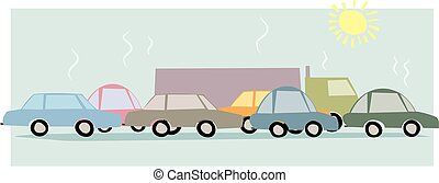 Traffic jam - An image of traffic stuck in a trafific jam