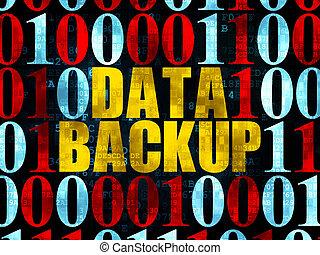 Information concept: Data Backup on Digital background