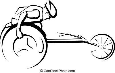 Stylized Male Wheelchair Racer