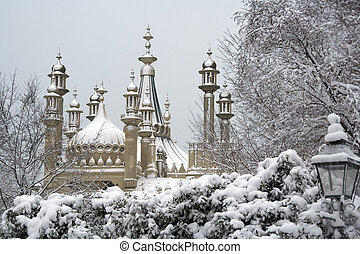 Brighton Pavilion in winter - The famous domes and turrets...