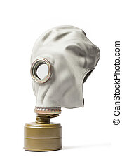 Gas Mask - Isolated with Clipping Path - Old gas protective...