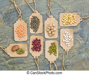 beans, lentils, pea and soy abstract - legume abstract (fava...