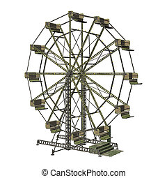 Ferris Wheel - 3D digital render of a vintage ferris wheel...