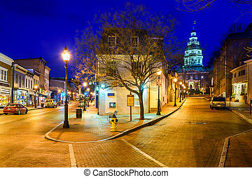 Annapolis Downtown - ANNAPOLIS, MARYLAND - APRIL 2, 2015:...