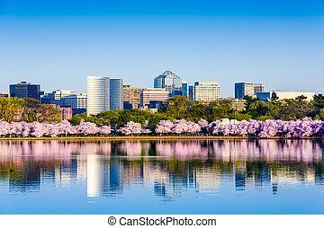 Washington, D.C. Cityscape - Washington, D.C. at the Tidal...