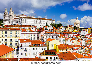 Alfama District of Lisbon - Lisbon, Portugal in the Alfama...